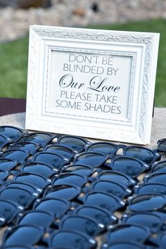 Hilarious sign for your sunny outdoor wedding | Tana Photography