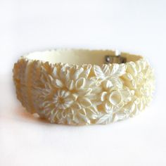 '60s Carved Clamper Bracelet, $56, now featured on Fab.