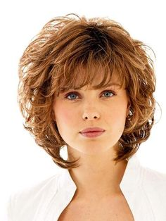 Short Layered Haircuts for Wavy Hair 16 Cute Short Hairstyles for Curly Hair to Make Fellow Curly Shag Haircut, Curly Hair Cuts, Cute Hairstyles For Short Hair, Short Hair Cuts, Curly Hair Styles, Curly Wigs, Hair Wigs, Medium Short Hairstyles, Pretty Hairstyles