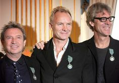 The Police (2007) rare! All smiling together. :-)