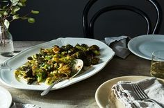"""Ina Garten's Parmesan-Roasted Broccoli - """"the best broccoli of your life"""" from Food 52 Roasted Broccoli Recipe, Broccoli Recipes, Vegetable Recipes, Vegetarian Recipes, Cooking Recipes, Healthy Recipes, Broccoli Salads, Veggies, Side Dishes"""