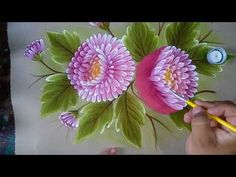 Pintando Crisantemos. - YouTube