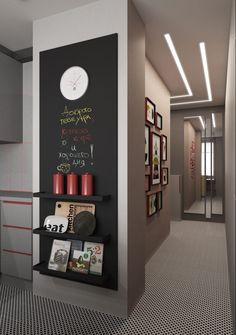 47 impressive minimalist wall art decoration ideas to copy right now 14 Chalkboard Wall Kitchen, Blackboard Wall, Chalk Wall, Küchen Design, Wall Design, House Design, Wall Art Decor, Diy Home Decor, Magnetic Wall