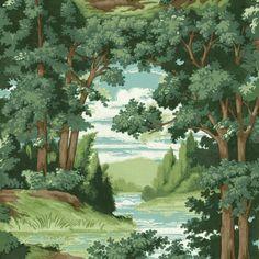 Forest Lake Scenic Sure Strip Wallpaper