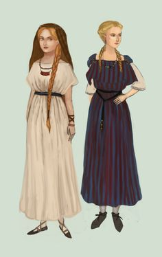 After Roman invasion, Gallic women started adopting some fashions of Rome. France century bc to ad (Roman Gaul) Ancient Roman Clothing, Viking Clothing, Ad Fashion, Fashion History, European Costumes, Roman Clothes, Historical Women, Ancient Beauty, Medieval Dress