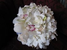 Gardenia and Cymbidium Orchids Bouquet