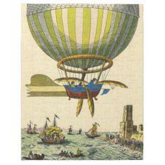 De vintage Ballon van de Hete Lucht van Steampunk Puzzel