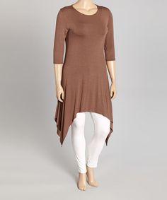 Look at this #zulilyfind! Brown Handkerchief Tunic - Plus #zulilyfinds