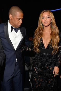 57th GRAMMY Awards Audience - Jay Z and Beyoncé at the 57th Annual GRAMMY Awards on Feb. 8 in Los Angeles