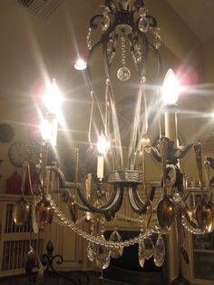 Classy Clutter: Chandelier with Meaning!