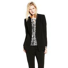 Single-Button Blazer-Like a good boyfriend, a classic blazer belongs is every woman's life. The Single-Button Boyfriend Blazer works a slightly elongated, streamlined shape with thin lapels. Lend extra polish any blouse with this professional topper.   <li>100% Polyester