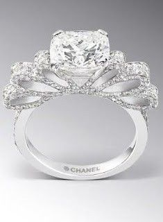 beautiful chanel engagement ring beautiful chanel engagement ring