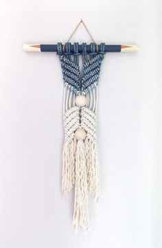 "HIMO ART for Urban Outfitters, Modern Macrame Wall Hanging, Rope art, ""HANE no.3"""