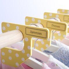 pretty hanger dividers... #mjcdreamcloset #matildajaneclothing