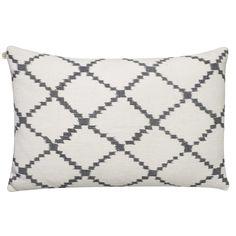 Ikat Kerela tyynynpäällinen S, valkoinen/harmaa ryhmässä Tekstiilit / Viltit & Koristetyynyt / Koristetyynyt @ ROOM21.fi (131438)