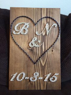 Wedding/Anniversary String Art - Order from KiwiStrings on Etsy! ( www.KiwiStrings.etsy.com )