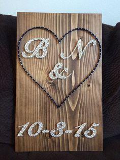 Wedding/Anniversary String Art - Order from KiwiStrings on Etsy! ( www.KiwiStrings.etsy.com )