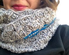 A Jane Austen Movie Night HANDKNIT Cowl, design by Tanya Marie Willis Anderson