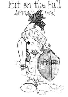 Dress Me Up in the Armor of God Eph 6 Printable, Cut