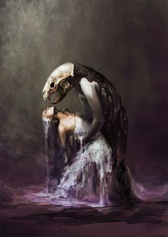 Japanese artist Ryohei Hase blurs the line between human and beast in his magnificently creepy artwork. Dark Fantasy, Fantasy Art, Creepy, Psy Art, The Embrace, Surrealism Painting, Sombre, Art Et Illustration, Horror Art