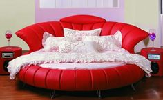 Amazing Modern Tables | Amazing Modern Red Bedroom Furniture Round Bed design Laminate Floor