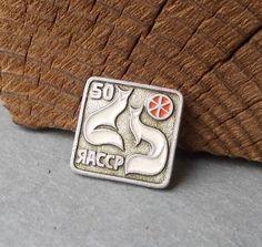 Vintage Pin Fox / Soviet BADGE / Vintage Brooch / by EUvintage