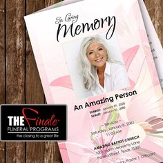 FLORALLY PINK ... printable funeral program by TheFinaleFnrlPrgrms, $14.99
