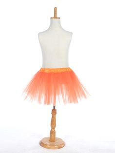 Orange Girls Tutu Skirt in Tulle New Product:YESColor (Related):OrangeNote:Bottom girth of the skirt is 105cm. Better to match with underwear.Silhouette:A-LineWaist:NaturalHemline/Train:Mini/ShortFabric:TulleFabric(main):TulleFabric(main):TulleOccasion:Special…