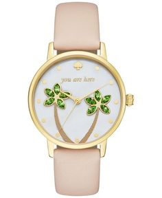 https://www.etsy.com/listing/276841228/18k-yellow-gold-diamond-jewelry-gemstone kate spade new york Women's Metro Vachetta Leather Strap Watch 34mm KSW1103