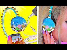 DIY НАУШНИКИ Океан // Летный DIY / ЛАЙФХАКИ с термоклеем для хендмейда \ Headphones - YouTube