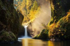 Punchbowl Gold - Punchbowl Falls Oregon  Many of you have seen this image before - I'm slowly reuploading some of my old favourites from time to time in larger format rather than the 900px they were previously. This one definitely has a great nostalgic feel for me dating back to 2013.