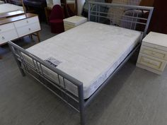 Double Metal Frame Bed & Mattress £95
