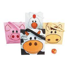 Large Animal Tote Bags - OrientalTrading.com $11.99 / doz