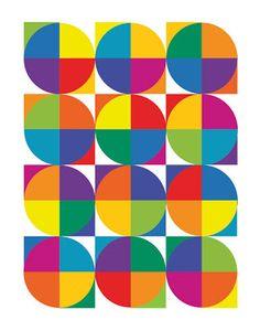 Johannes Itten Inspired Color Wheel Digital Painting