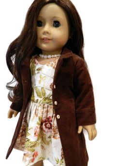 American Girl Doll Clothes  Cotton Floral Print by 18Boutique, $65.00