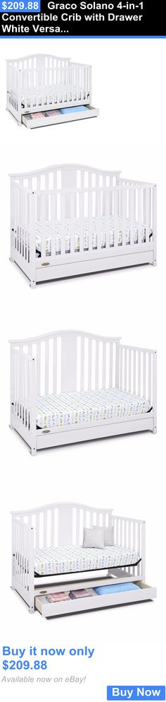 Baby Nursery: Graco Solano 4-In-1 Convertible Crib With Drawer White Versatile Nursery Sleep BUY IT NOW ONLY: $209.88