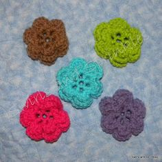 Swirls and Sprinkles: Free crocheted 3 layer flower pattern