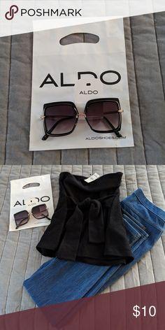 63705ce7c65 Aldo Sunglasses Aldo Trardodda Black square frame chic sunglasses. Accessories  Sunglasses Best Deals