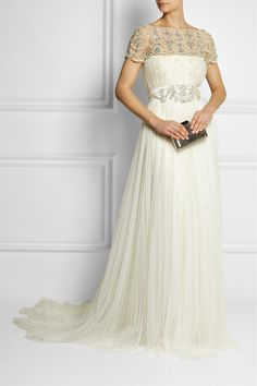 Marchesa | Embellished tulle and lace gown | NET-A-PORTER.COM