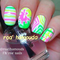 Neons for summer #nails #nail #fashion #style #TagsForLikes #cute #beauty #beautiful #instagood #pretty #girl #girls #stylish #sparkles  #gliter #nailart #art  #photooftheday #love #shiny #polish #nailpolish #nailswag #nailartist #art #drawing #watermarble #marbling