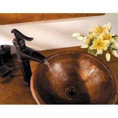 Pfister Ashfield Vessel Single Hole Bathroom Sink Faucet in Tuscan Bronze. Great accent piece for a bathroom!