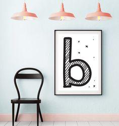 Letter B   ► Letters & Symbolen   Postersinhuis.nl