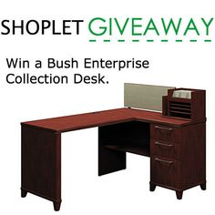 Win this awesome desk from Bush! http://blog.shoplet.com/giveaways/win-a-bush-enterprise-collection-desk-126/