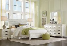 picture of Palm Grove White 5 Pc King Panel Bedroom from King Bedroom Sets Furniture