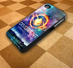 I love this! Divergent Cover Galaxy iPhone 4,4s, iPhone 5,5s,5c, Samsung S3,S4 Rubber Or Plastic on Etsy, $15.50