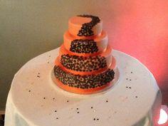 Orange and black wedding cake #Black #Wedding #Cake