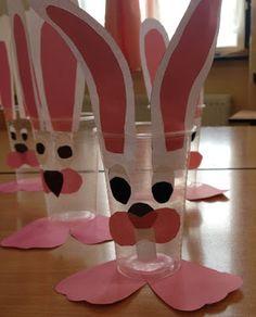 Játékos tanulás és kreativitás: Tyúkocska, nyuszi műanyag pohárból