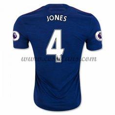 Manchester United Fotbalové Dresy 2016-17 Jones 4 Venkovní Dres
