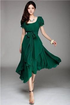 Dark green dress for bridesmaides