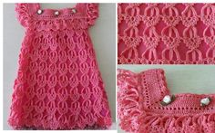 The most beautiful dress in crochet for girl